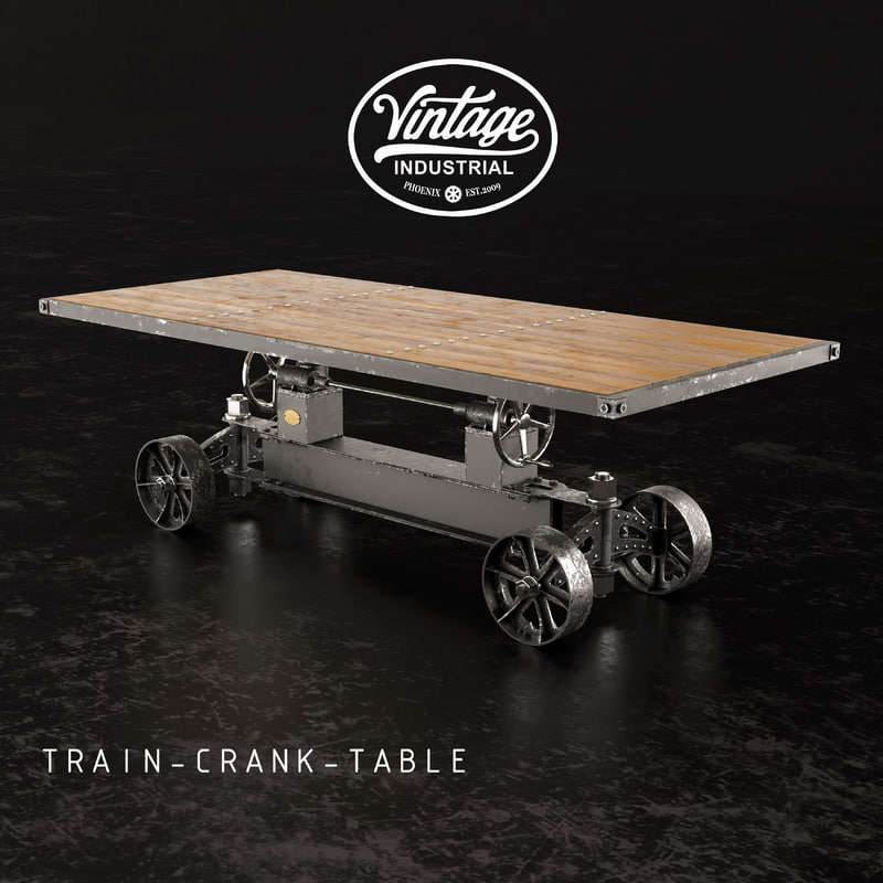 dining table train crank 3D model