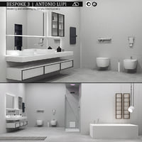 3D bathroom furniture set bespoke