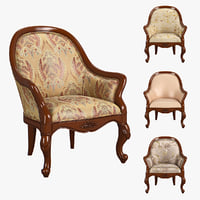 3D model 230-1 carpenter armchair