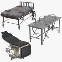 asylum bed operating tables 3D model