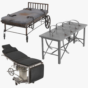 asylum bed operating tables 3D model