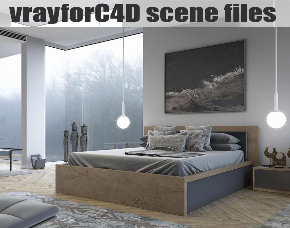3D vrayforc4d scene files -