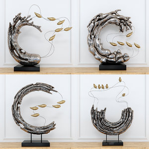 abstract resin sculpture 3D model