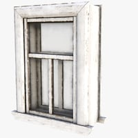 3D old window