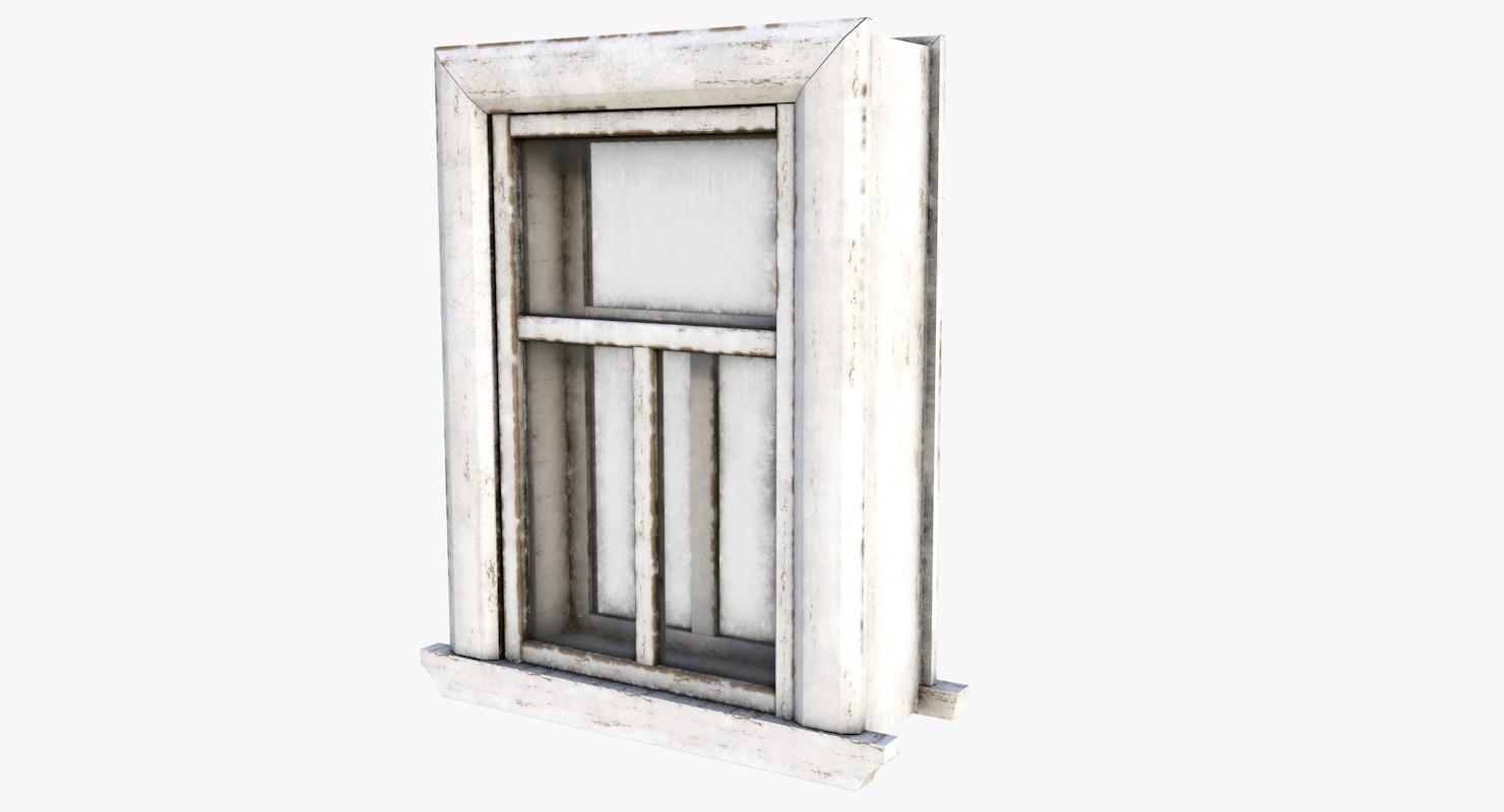 3D old window