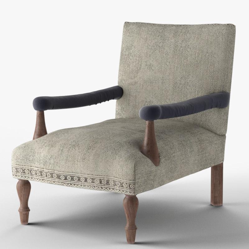 3D loki kilim chair model