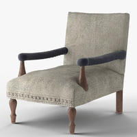 Loki washed grey Kilim armchair