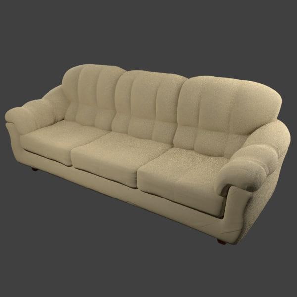 sofa - 3D model