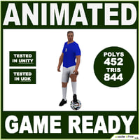 3D team ball soccer player