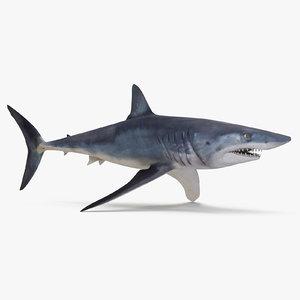 3D model mako shark