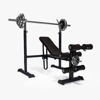 3D weight lifting bench