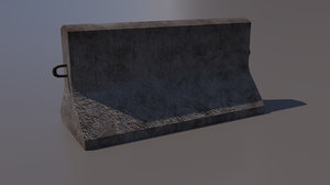 block concrete road 3D model