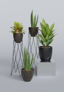 3D decorative plant pot 1 model