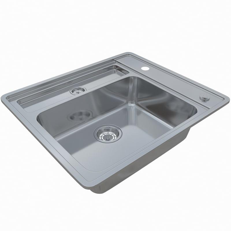 3D sink blanco statura 6-if