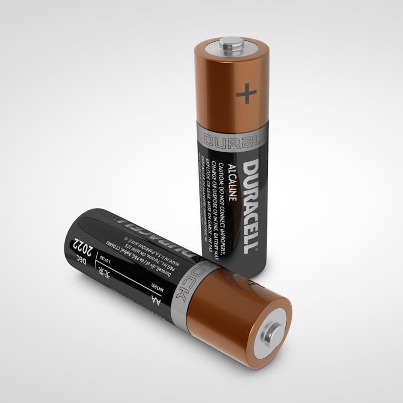 3D aa battery model