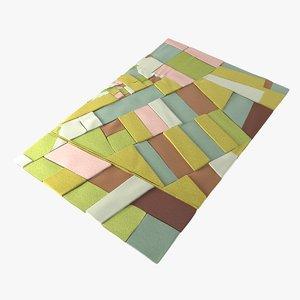 3D model carpet florian pucher land