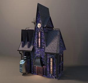 despicable cartoon walls 3D model