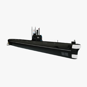 foxtrot submarine project 641 3D model