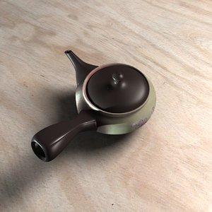 3D japanese teapot model