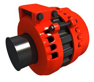 3D engine alternator
