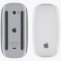 3D apple magic mouse 2 model