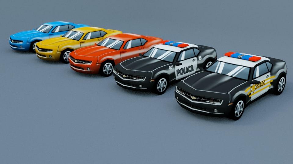 cars pack 3D model