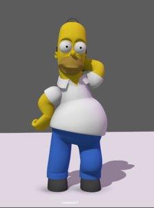 3D homer simpson model