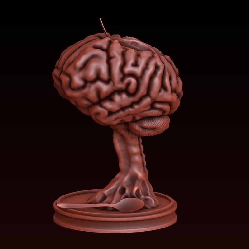 brain halloween 3D model