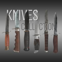 Knives Collection Game-Ready Midpoly PBR