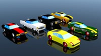 Low Poly Car Pack 03