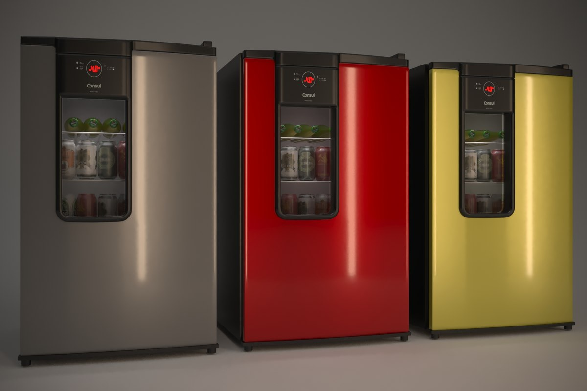 beer fridge consul 3D model