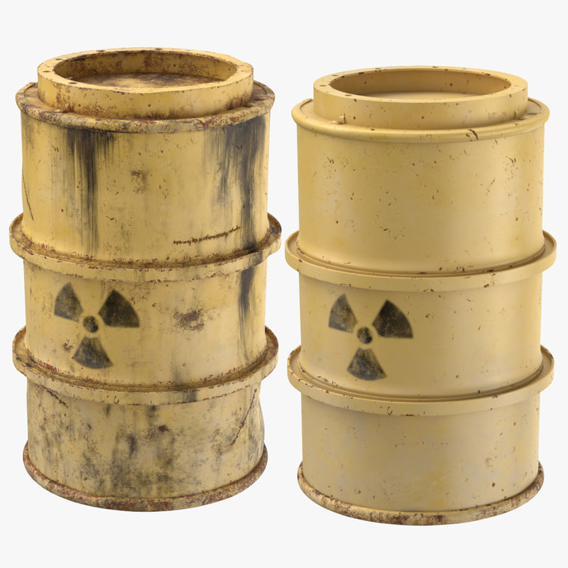 toxic waste drums model