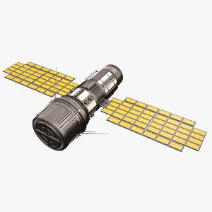 3D model sci fi satellite 03