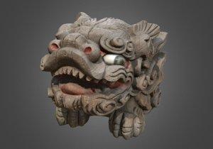 3D shisa lion dog okinawan