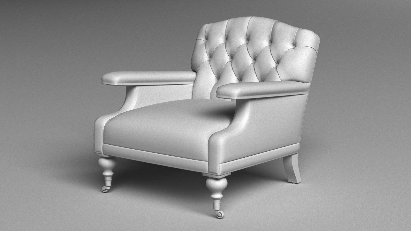 3D alfred club chair model