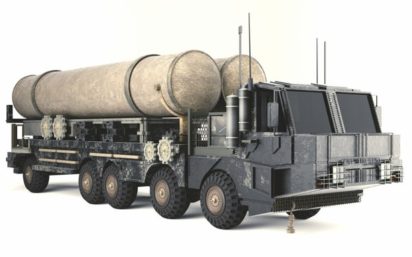 wheeled missile launcher 3D