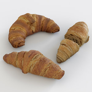 scanned croissants 3D model
