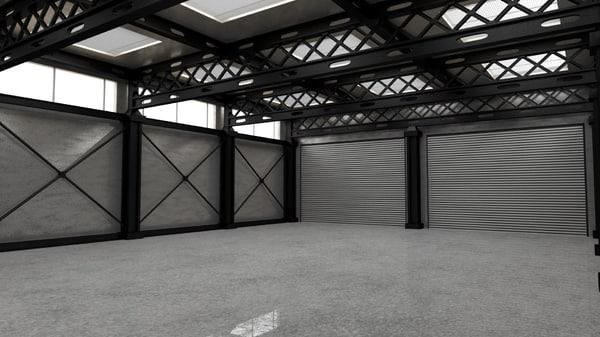 military hangar 3D