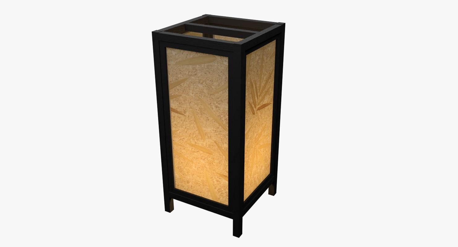 3D lantern black model