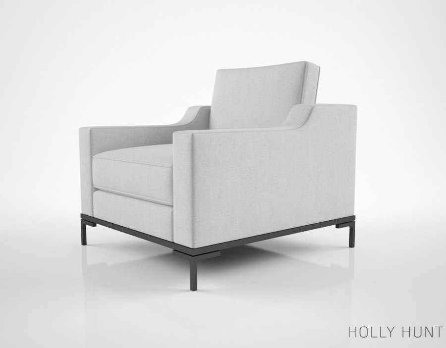 holly hunt guild lounge chair model