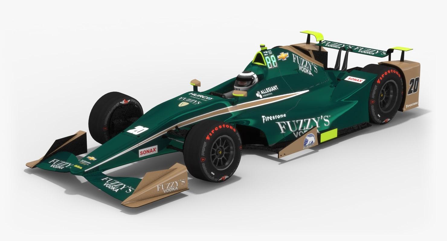 ed carpenter racing indy 3D model