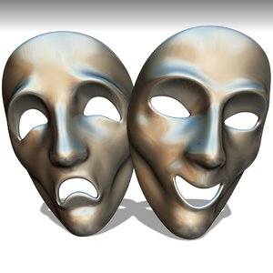 masks comedy drama 3D model