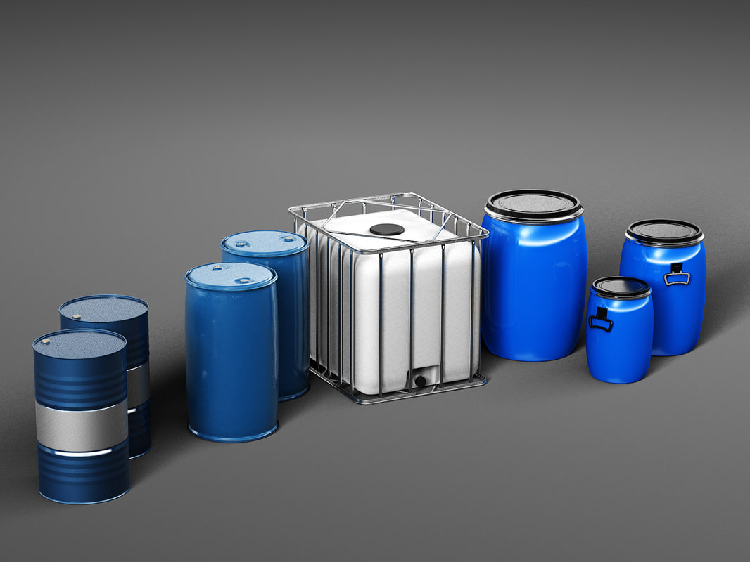 3D model barrels water tank
