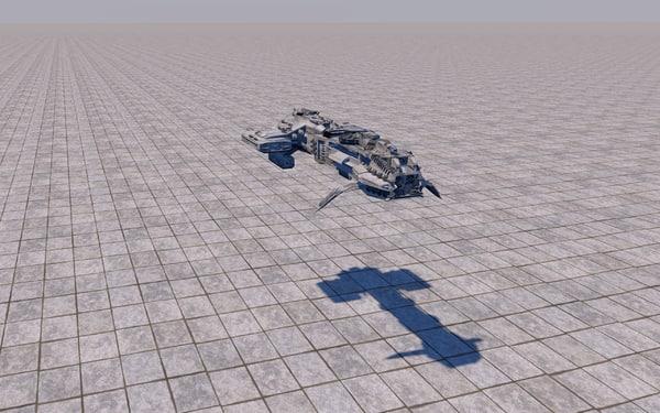 3D space battleship