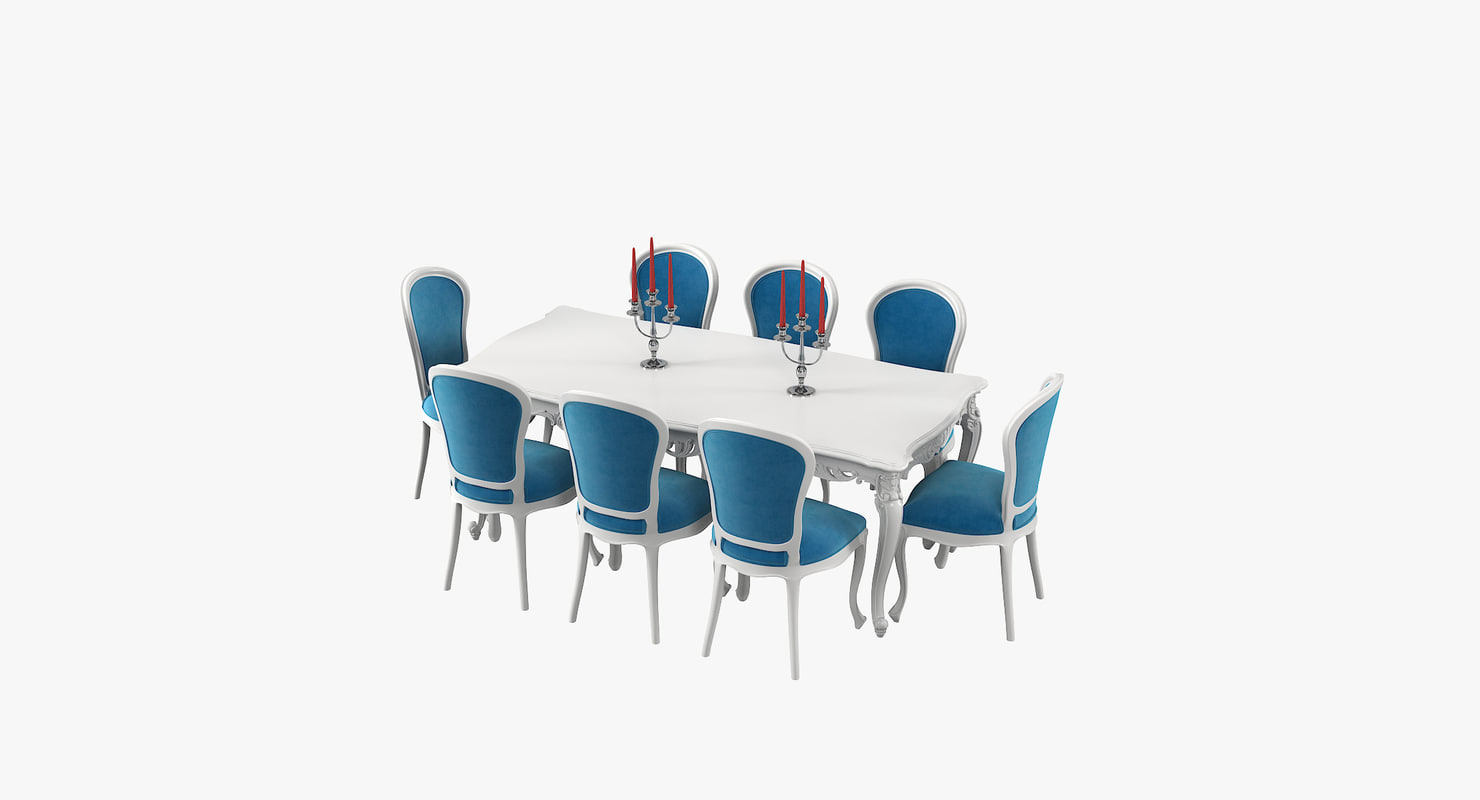 fabulous baroque dining table 3D model
