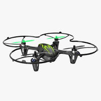 hubsan x4 h107c blackgreen 3D model