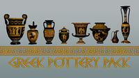 3D ancient greek pottery pack