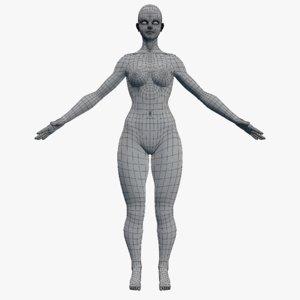 characters woman base female model