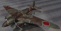 3D plane mitsubishi ki-21-1a sally model