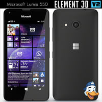 3D model microsoft lumia 550 element